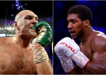 Tyson Fury and Anthony Joshua have agreed to a two-fight deal. (Photo by AFP)