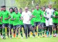 Super Eagles have been training at the FIFA Goal Project, Abuja.