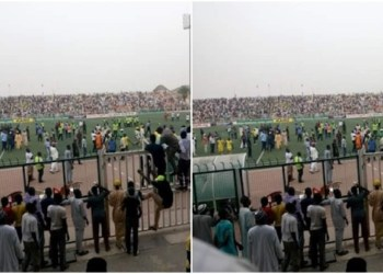 Rivers United Fans Beat Up Akwa United Supporter, Hold Referee Hostage