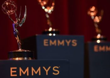 View of the set at the 71st Emmy Awards Nominations Announcement at the Television Academy in North Hollywood, California, on July 16, 2019 (Photo by VALERIE MACON / AFP)        (Photo credit should read VALERIE MACON/AFP/Getty Images)