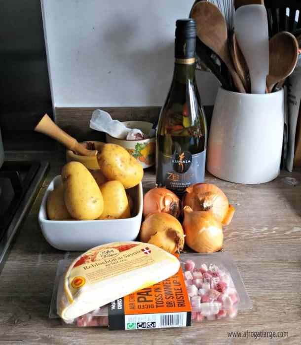 French Tartiflette recipe ingredients