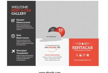 Rentacar Outside Brochure Mockup