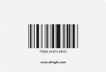 Barcode White Psd