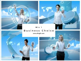 Business Choice Mix 1 Stock Photo