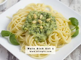 Different delicious dishes 1 Stock Photo
