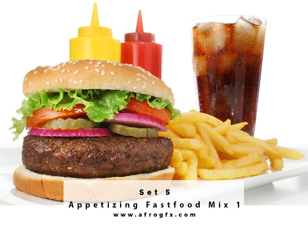 Appetizing Fastfood Mix 5 Stock Photo