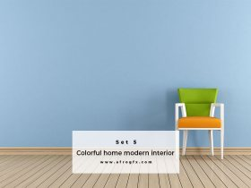 Colorful home modern interior Set 5 Stock Photo