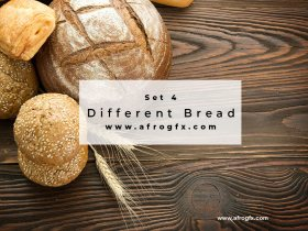 Different Bread Set 4 Stock Photo