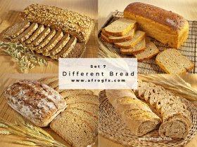 Different Bread Set 7 Stock Photo