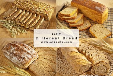 Different Bread Set 7 Stock Photo