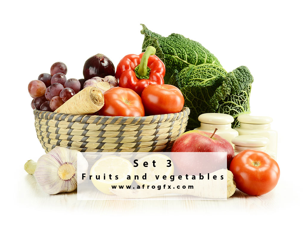 Fruits and vegetables 3 Stock Photo