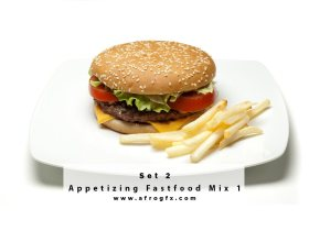 Appetizing Fastfood Mix 2 Stock Photo
