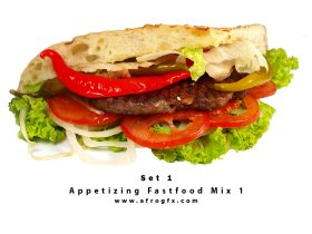 Appetizing Fastfood Mix 1 Stock Photo