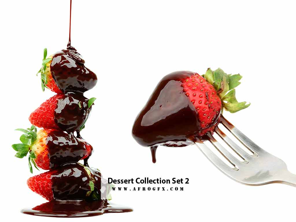 Dessert Collection Set 2 Stock Photo