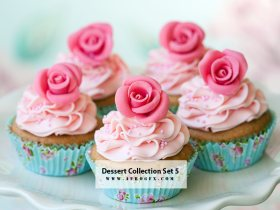 Dessert Collection Set 5 Stock Photo