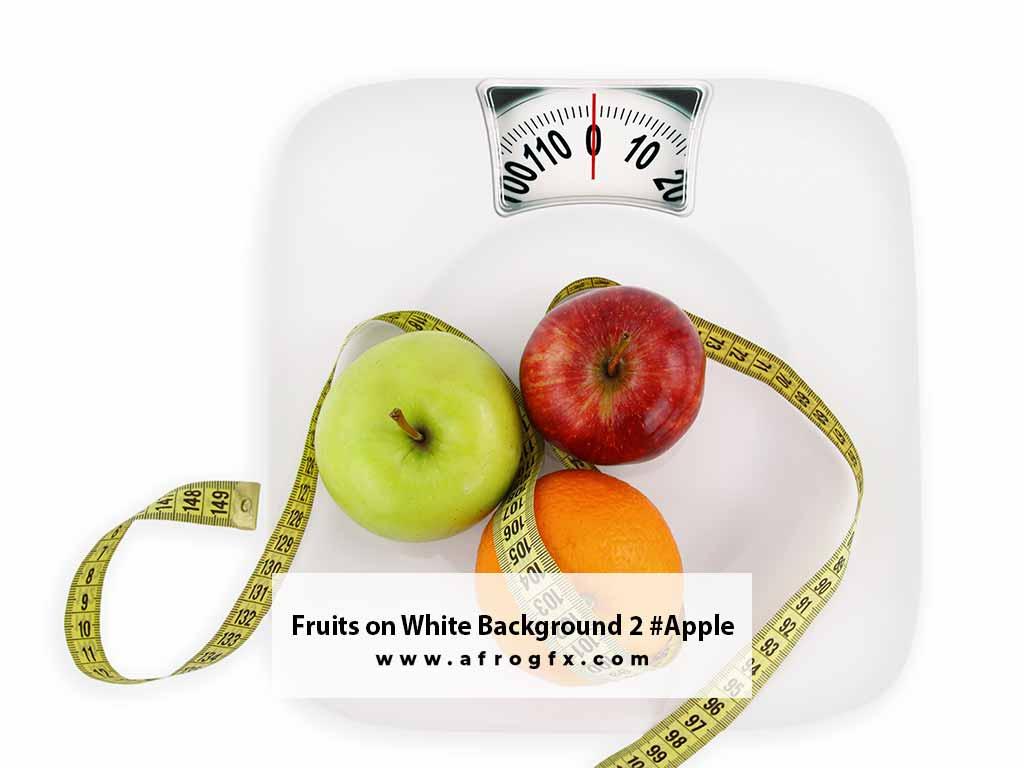 Fruits on White Background 2 #Apple