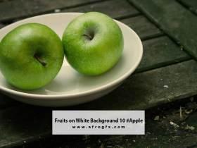 Fruits on White Background 10 #Apple