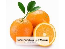 Fruits on White Background 13 #Orange