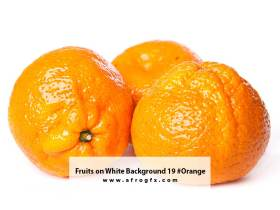 Fruits on White Background 19 #Orange