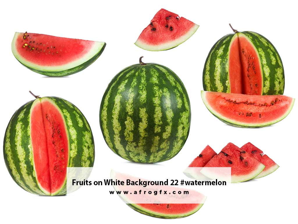 Fruits on White Background 22 #watermelon