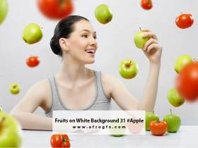 Fruits on White Background 31 #Apple