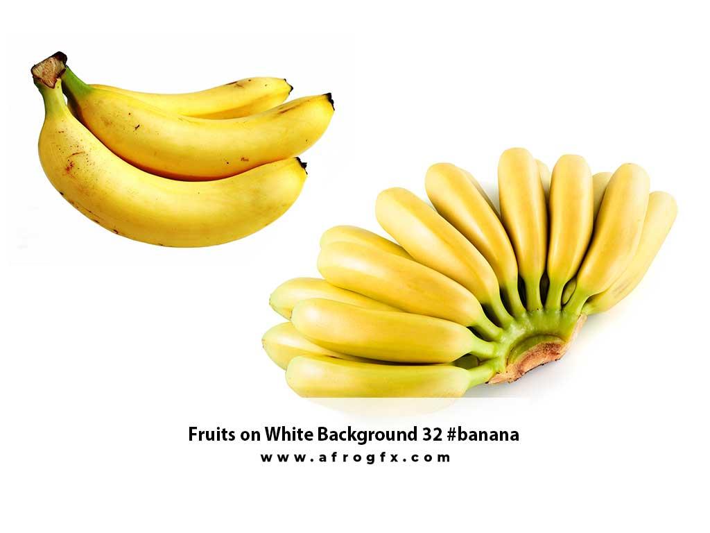 Fruits on White Background 32 #banana