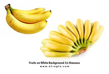 Fruits on White Background 32 #banana