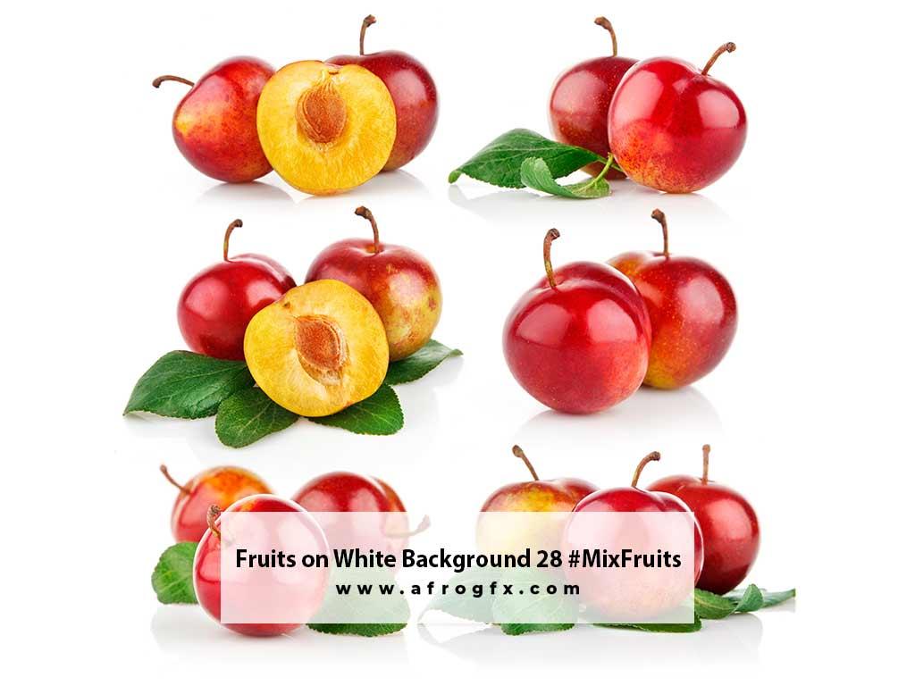 Fruits on White Background 28 #MixFruits