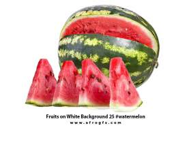 Fruits on White Background 25 #watermelon