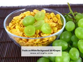 Fruits on White Background 38 #Grapes