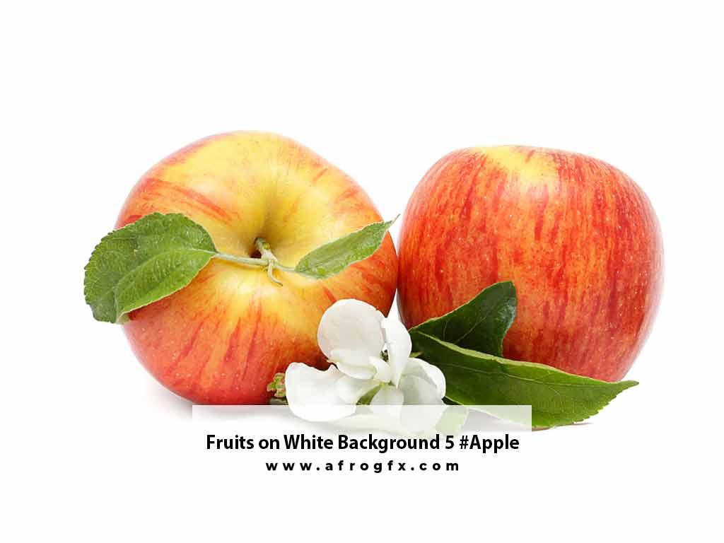 Fruits on White Background 5 #Apple