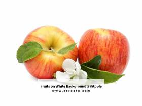 Fruits on White Background 5 #Apple