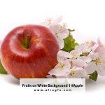 Fruits on White Background 1 #Apple