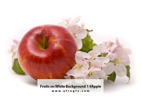 Fruits on White Background 1 #Apple