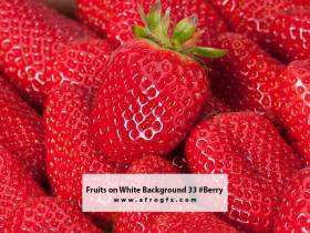 Fruits on White Background 33 #Berry
