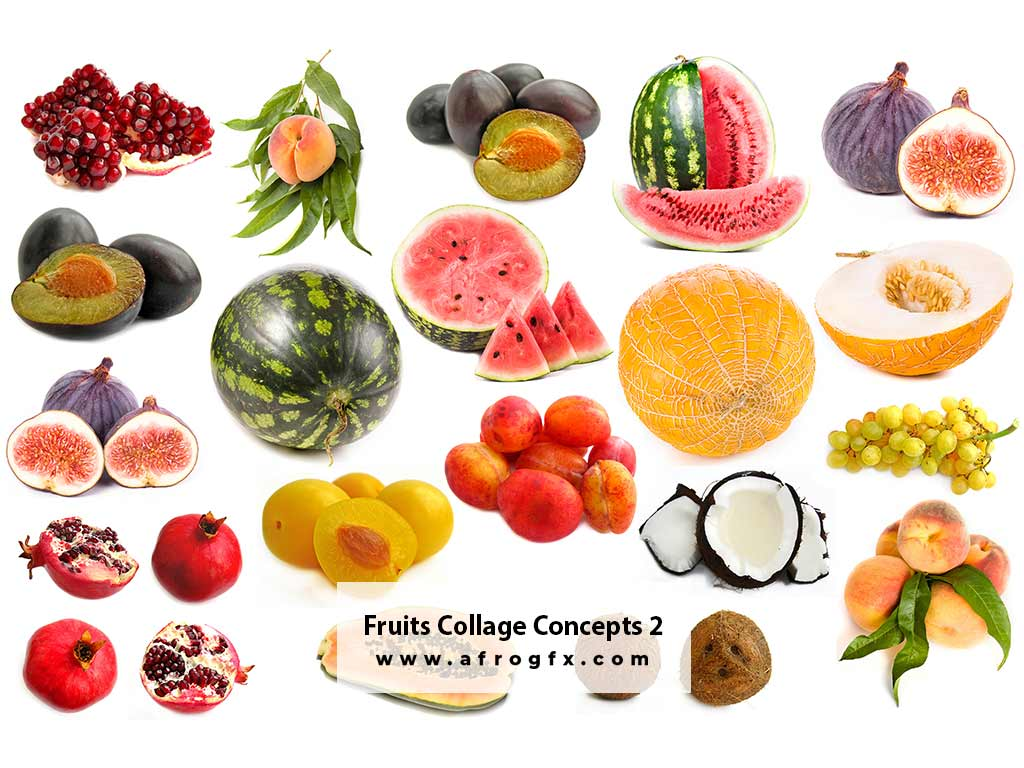 Fruits Collage Concepts 2 Stock Photo