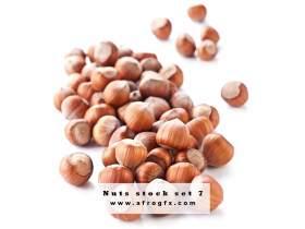 Nuts stock set 7 Stock Photo