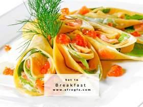 Breakfast Set 14 Stock Photo
