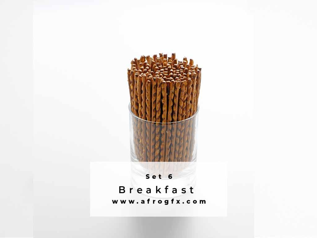 Breakfast Set 6 Stock Photo