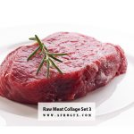 Raw Meat Collage Set 3