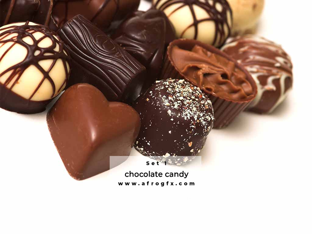 Chocolate and chocolate candy Set 1 Stock Photo