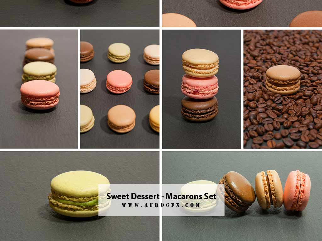 Sweet dessert - Macarons - Collection Set 1