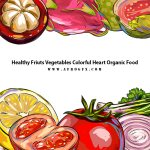 Healthy Fruits Vegetables Colorful Heart Organic Food