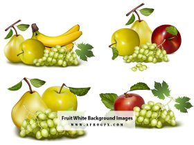 Fruit White Background Images, Stock Photos
