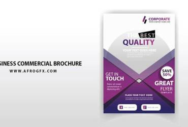 Business Commercial Brochure Vector Template for Free