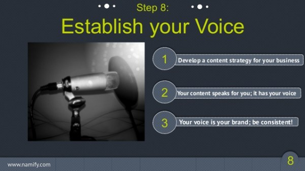 Establish a voice for your brand's email marketing campaign