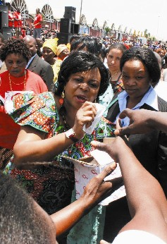 Zambian first Lady Maureen Mwanawasa