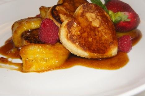 Banana cinnamon pancakes chef abby williams
