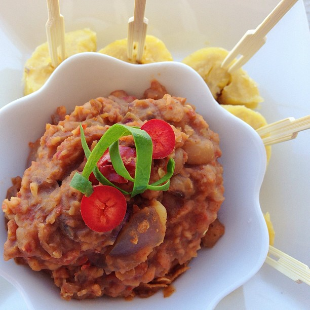 nigerian beans pottage and plantain