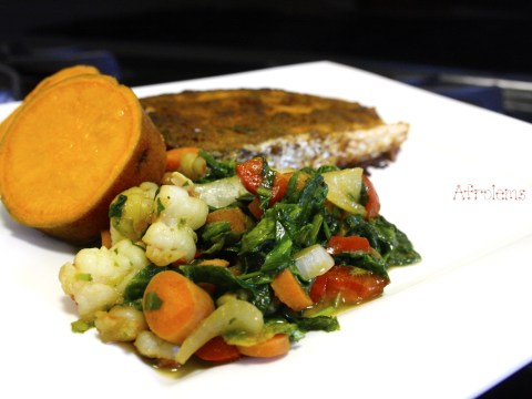 Nigerian dinner ideas archives afrolems nigerian food blog sweet potato salmon and vegetable sauce forumfinder Image collections